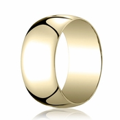 Benchmark 10mm 14K Yellow Gold Traditional Wedding Band
