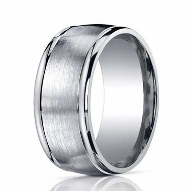 Benchmark 10mm ARGO Silver Comfort Fit Ring with Polished Edges