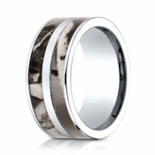 Benchmark 10mm Cobalt Chrome Ring with Tree Inlay