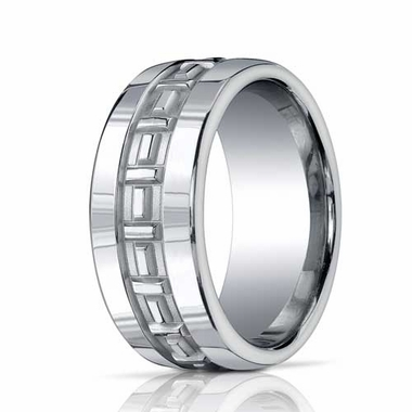 Benchmark 10mm Comfort Fit ARGO Ring with T Pattern