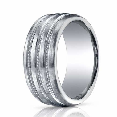 Benchmark 10mm Comfort Fit ARGO Silver Ring with 3 Braid Design