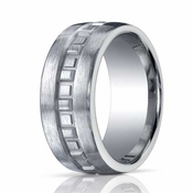 Benchmark 10mm Comfort Fit ARGO Silver Ring with Box Pattern