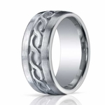 Benchmark 10mm Comfort Fit ARGO Silver Ring with Celtic Knot Design