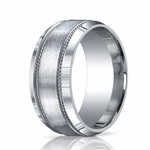 Benchmark 10mm Comfort Fit ARGO Silver Ring with Rope Design