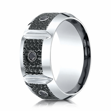 Benchmark 10mm Micro Hammer Cobalt Chrome Diamond Ring