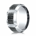 Benchmark 10mm Mirco Hammered Cobalt Chrome Ring