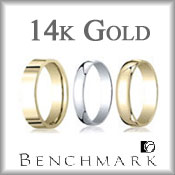 Benchmark 14K Gold Wedding Bands