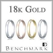 Benchmark 18K Gold Wedding Bands