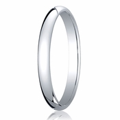 Benchmark 2.5mm 14K White Gold Traditional Wedding Band