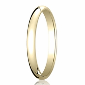 Benchmark 2.5mm 14K Yellow Gold Traditional Wedding Band