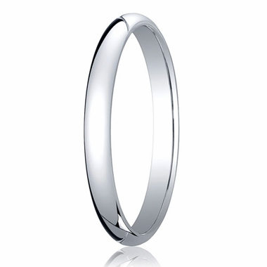 Benchmark 2.5mm 18K White Gold Traditional Wedding Band