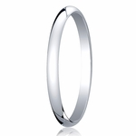 Benchmark 2mm 14K White Gold Traditional Wedding Band