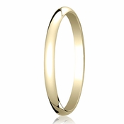 Benchmark 2mm 14K Yellow Gold Traditional Wedding Band