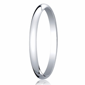 Benchmark 2mm 18K White Gold Traditional Wedding Band