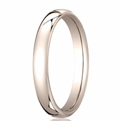 Benchmark 3.5mm 14K Rose Gold Euro Comfort Fit� Wedding Band