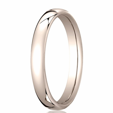 Benchmark 3.5mm 14K Rose Gold Euro Comfort Fit?Wedding Band
