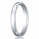 Benchmark 3.5mm 14K White Gold Euro Comfort Fit?Wedding Band