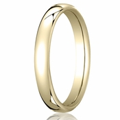 Benchmark 3.5mm 14K Yellow Gold Euro Comfort Fit?Wedding Band