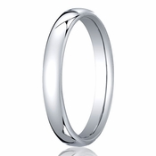 Benchmark 3.5mm 18K White Gold Euro Comfort Fit?Wedding Band