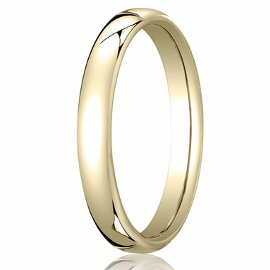 Benchmark 3.5mm 18K Yellow Gold Euro Comfort Fit?Wedding Band