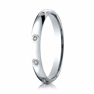 Benchmark 3mm 14K White Gold 8-Stone Eternity Diamond Ring