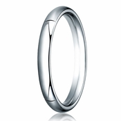 Benchmark 3mm 14K White Gold Heavy Comfort Fit Wedding Band