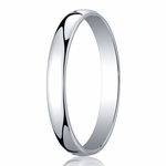 Benchmark 3mm 14K White Gold Low Dome Wedding Band