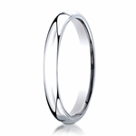 Benchmark 3mm 14K White Gold Super Light Comfort Fit Ring