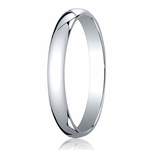 Benchmark 3mm 14K White Gold Traditional Wedding Band