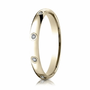 Benchmark 3mm 14K Yellow Gold 8-Stone Eternity Diamond Ring