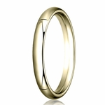 Benchmark 3mm 14K Yellow Gold Heavy Comfort Fit Wedding Band
