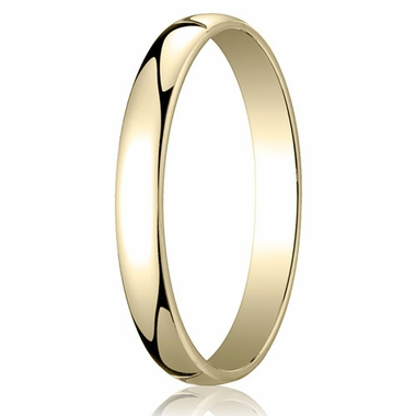 Benchmark 3mm 14K Yellow Gold Low Dome Wedding Band