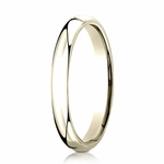 Benchmark 3mm 14K Yellow Gold Super Light Comfort Fit Ring