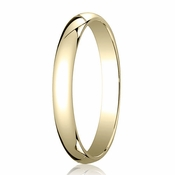 Benchmark 3mm 14K Yellow Gold Traditional Wedding Band