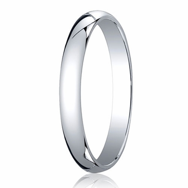 Benchmark 3mm 18K White Gold Traditional Wedding Band