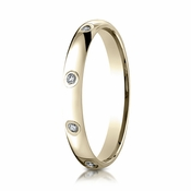 Benchmark 3mm 18K Yellow Gold 8-Stone Eternity Diamond Ring