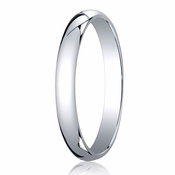 Benchmark 3mm Platinum Traditional Wedding Band