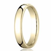Benchmark 4.5mm 14K Yellow Gold Euro Comfort Fit?Wedding Band