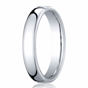 Benchmark 4.5mm Platinum Euro Comfort Fit� Wedding Band
