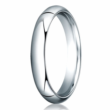 Benchmark 4mm 14K White Gold Heavy Comfort Fit Wedding Band