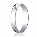 Benchmark 4mm 14K White Gold Low Dome Wedding Band