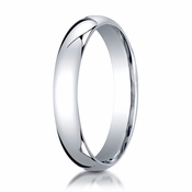 Benchmark 4mm 14K White Gold Super Light Comfort Fit Ring