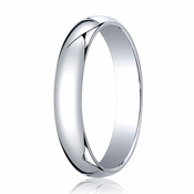 Benchmark 4mm 14K White Gold Traditional Wedding Band