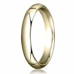 Benchmark 4mm 14K Yellow Gold Heavy Comfort Fit Wedding Band