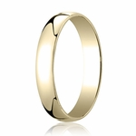 Benchmark 4mm 14K Yellow Gold Low Dome Wedding Band