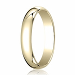 Benchmark 4mm 14K Yellow Gold Traditional Wedding Band