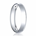 Benchmark 4mm 18K White Gold Traditional Wedding Band