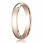 Benchmark 4mm Domed 14K Rose Gold Standard Comfort Fit Band