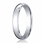 Benchmark 4mm Domed 14K White Gold Standard Comfort Fit Band