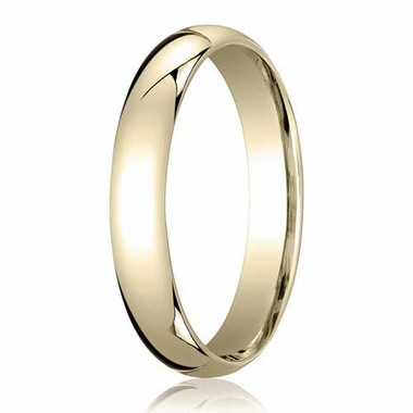 Benchmark 4mm Domed 14K Yellow Gold Standard Comfort Fit Band
